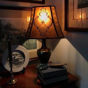 Vintage Mica octagonal lampshade drum
